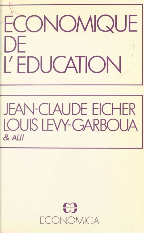 Economique de l'education