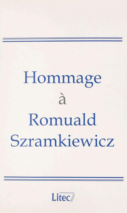 Hommage a romuald szramkiewicz - melanges