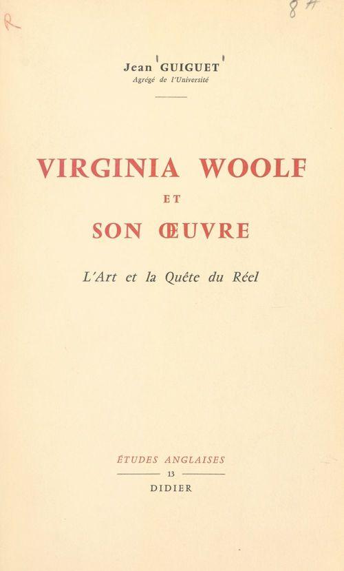 Virginia Woolf et son oeuvre