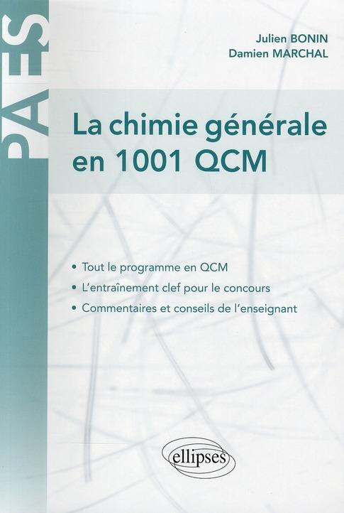 La Chimie Generale En 1001 Qcm
