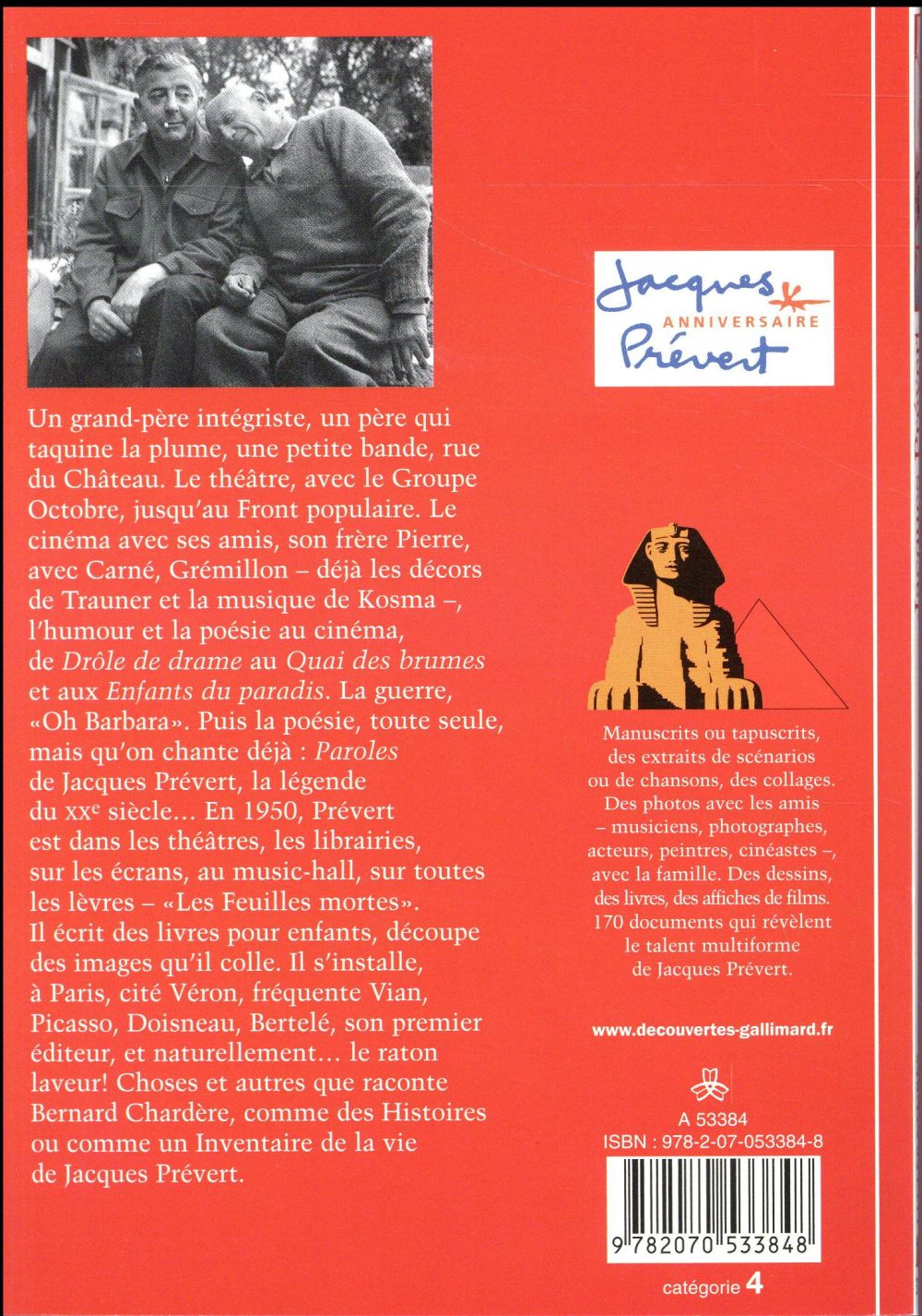Jacques Prévert ; inventaire d'une vie