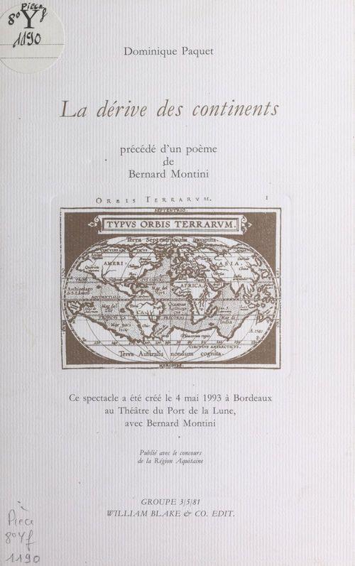 La Dérive des continents