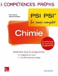 COMPETENCES PREPAS ; chimie ; 2e année PSI PSI