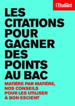 Vente Livre Numérique : Les citations pour gagner des points au bac  - Benoit Falaize - Laurence de Cock - Nathalie Blaise - Patrick Ghrenassia - Remi Jeannin