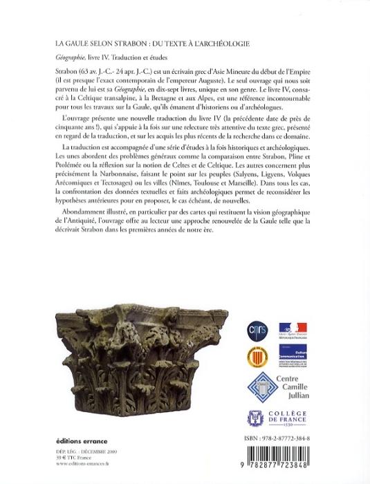 La Gaule selon Strabon ; du texte à l'archéologie