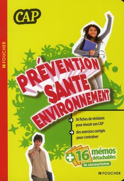 Prévention/santé/environnement ; CAP ; manuel