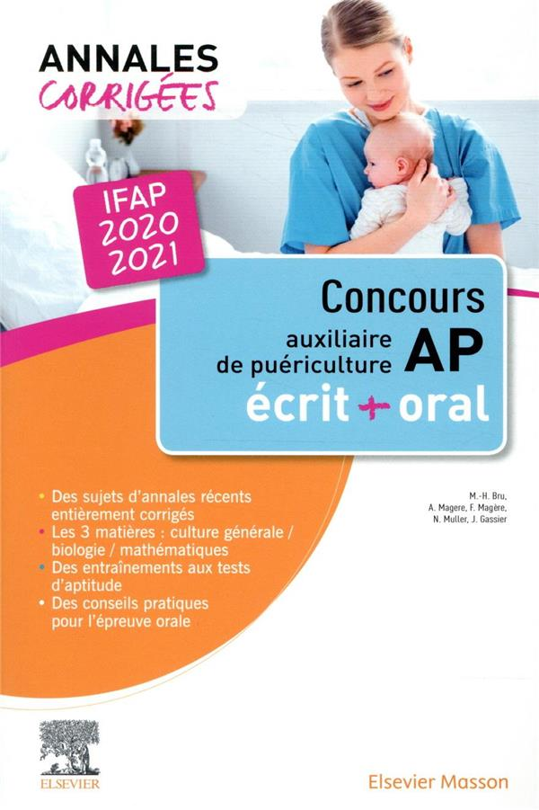 Annales corrigées ; concours auxiliaire de puériculture ; IFAP ; écrit et oral (édition 2020/2021)