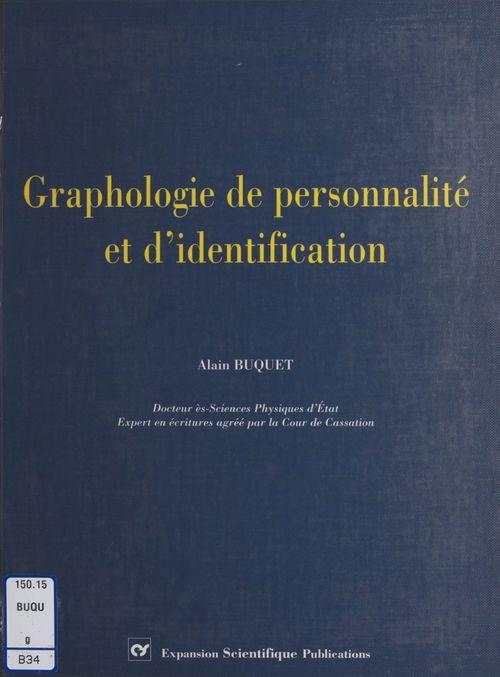 Graphologie de personnalité et d'identification