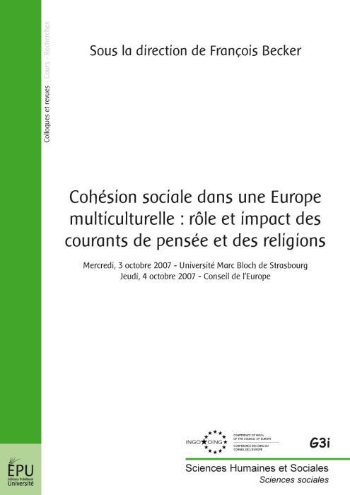 Cohésion sociale dans une Europe multiculturelle : rôle et impact des courants de pensée et des religions