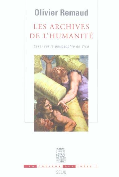 les archives de l'humanite. essai sur la philosophie de vico