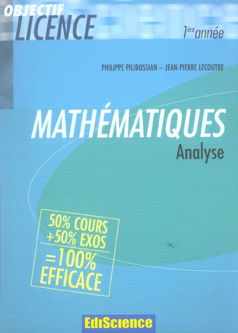 Analyse - 2eme Edition - Cours Et Exercices Corriges