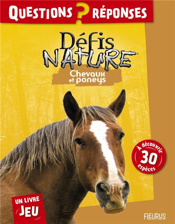 Défis nature ; je dessine les animaux ; chevaux et poneys