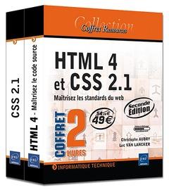 Html 4 et css 2.1 ; coffret de 2 livres ; maîtrisez les standards du web (2e édition)