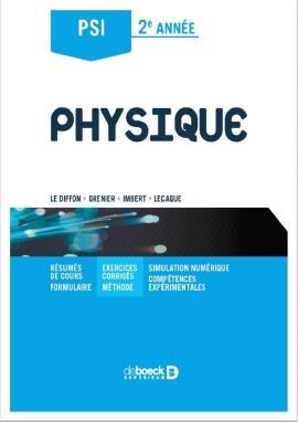 Physique ; PSI, 2ème année