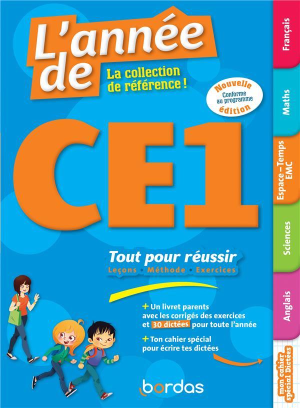 L'ANNEE DE ; toutes les matières ; CE1 (édition 2018)