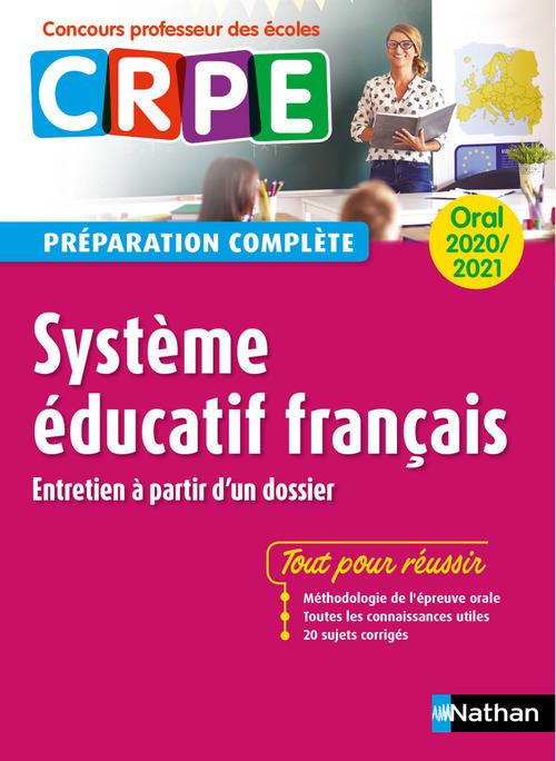 Système éducatif français ; oral (édition 2020/2021)