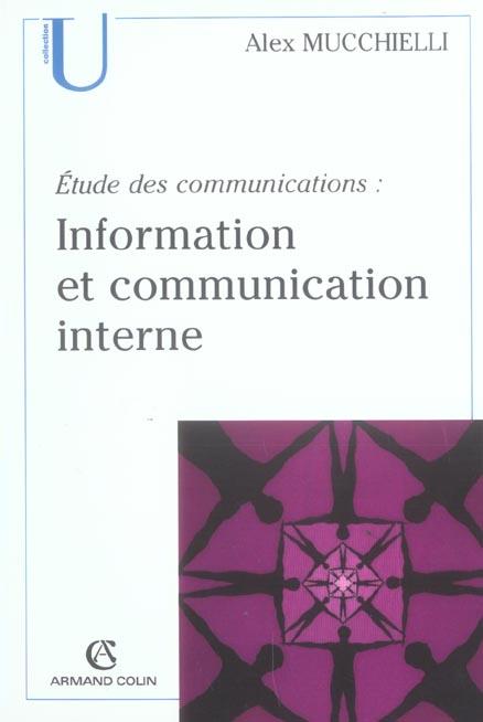 Information Communication Interne ; Etude Des Communications