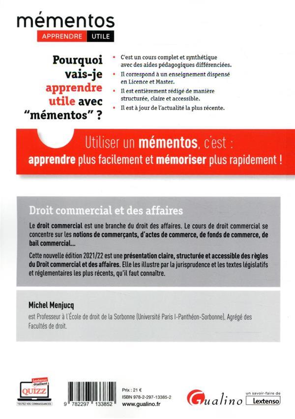 droit commercial et des affaires (édition 2021/2022)