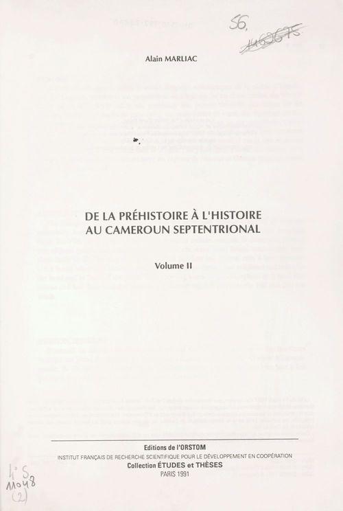 De la préhistoire à l'histoire au Cameroun septentrional (2)