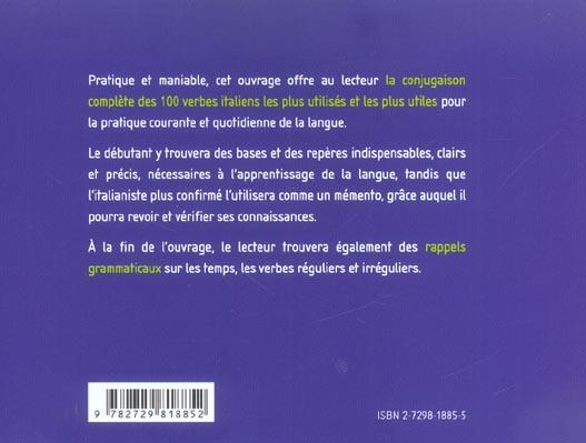 100 Verbi Les 100 Verbes Italiens Les Plus Utiles Chevalier Ellipses Grand Format Alip