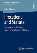 Precedent and Statute  - Orlin Yalnazov