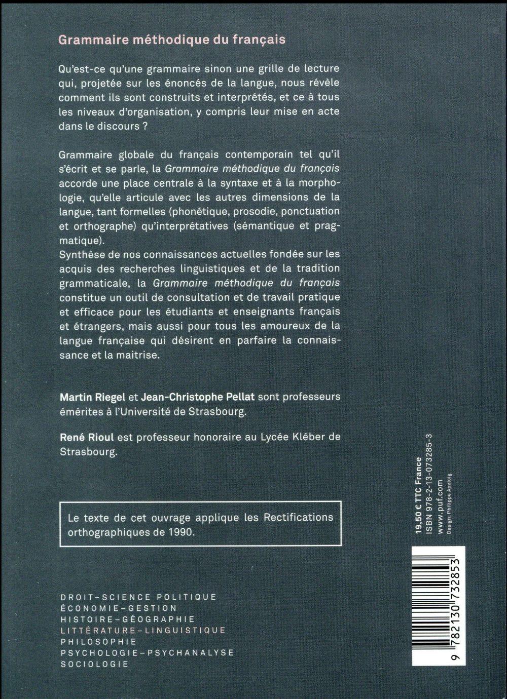 Grammaire méthodique du francais (6e édition)