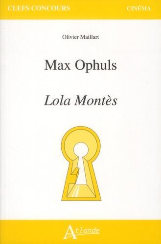 Max Ophüls ; Lola Montès