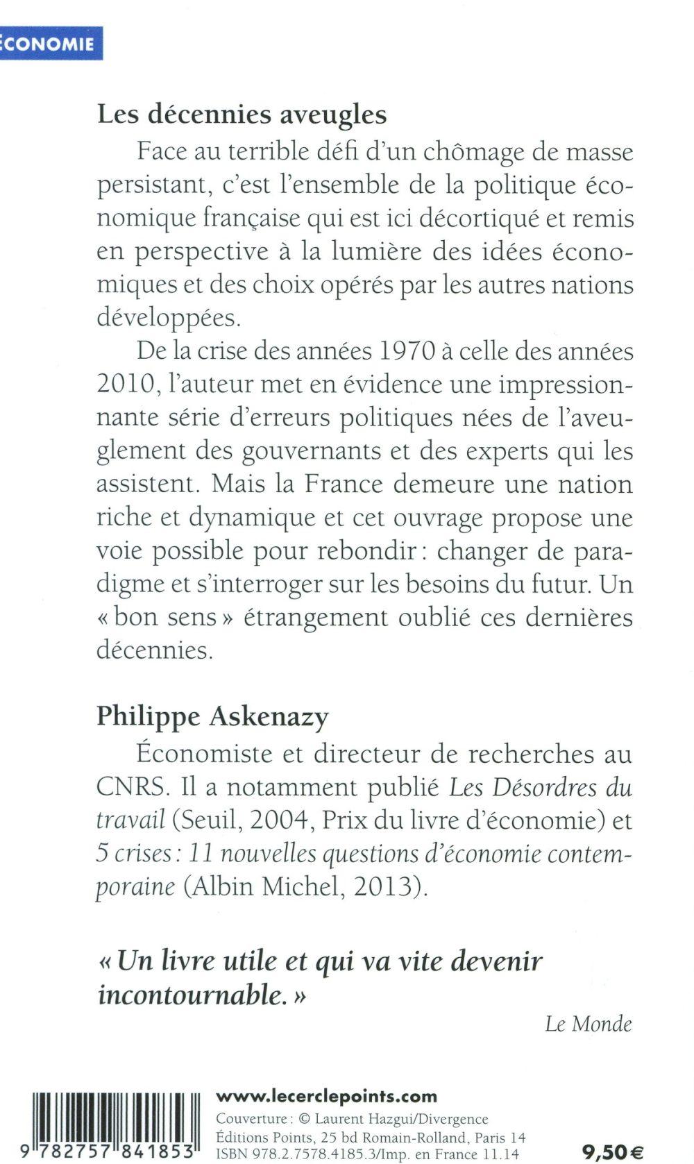 Les décennies aveugles ; emploi et croissance (1970-2014)