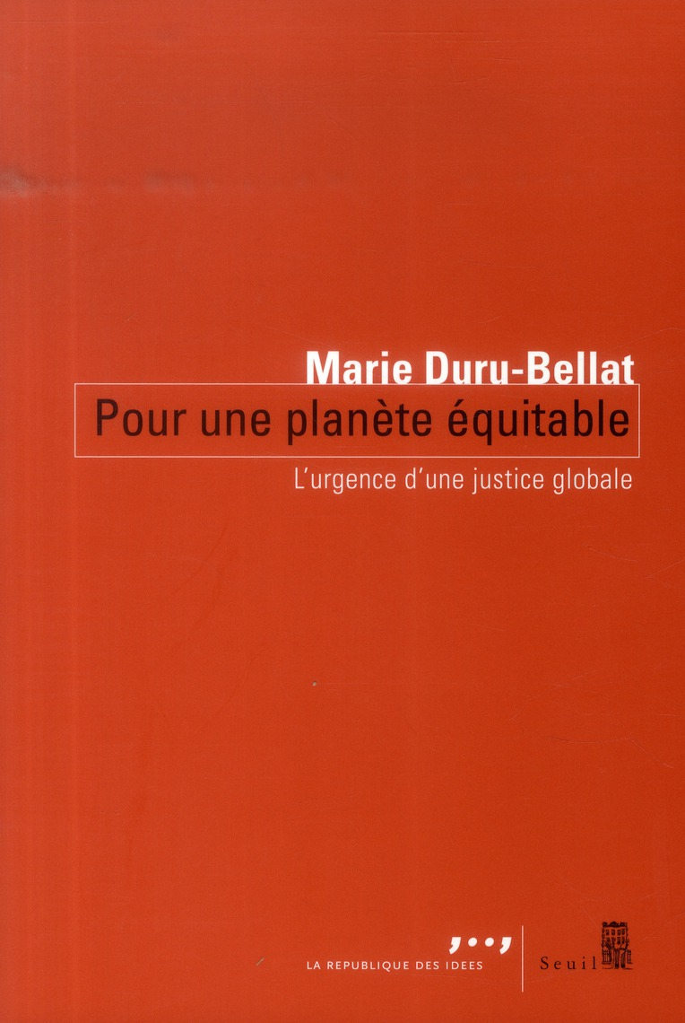 pour une planète équitable ; l'urgence d'une justice globale