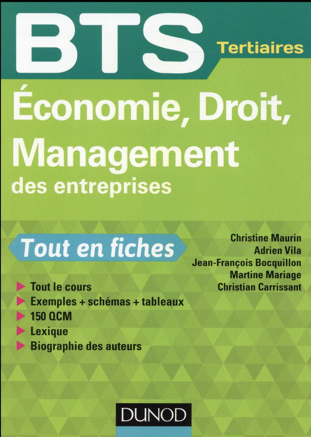 économie, droit, management des entreprises ; BTS