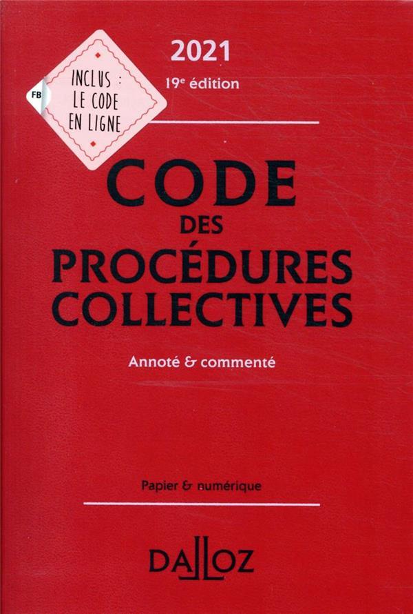 code des procédures collectives (édition 2021)