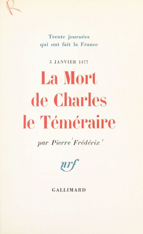 La mort de Charles le Téméraire, 5 janvier 1477