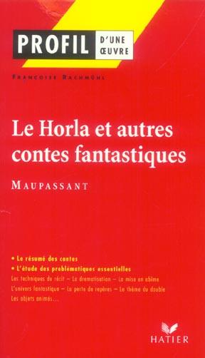 Le Horla  et autres contes fantastiques de Maupassant