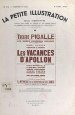 Les vacances d'Apollon  - Jean Berthet