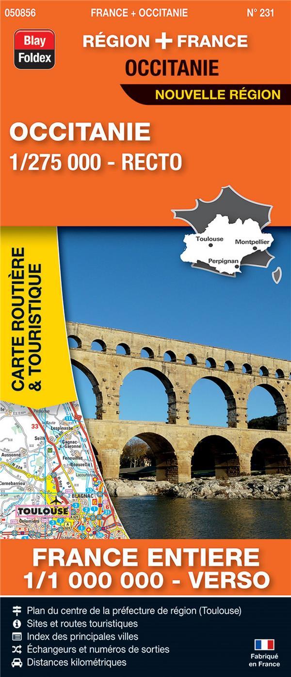 Carte routière & touristique N.231 ; Occitanie