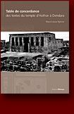 Tables de concordance des textes du temple d'hathor a dendera