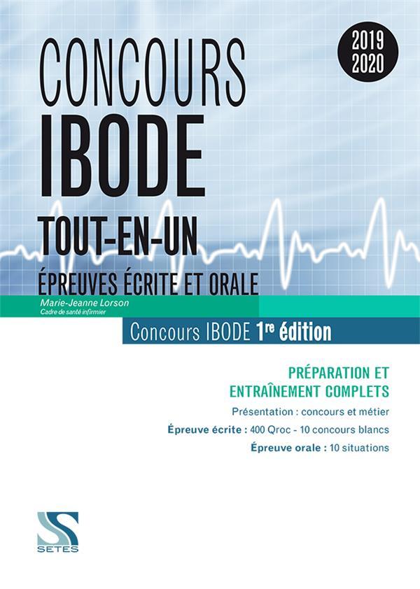 Concours IBODE ; épreuves écrite et orale ; tout-en-un (concours 2019/2020)