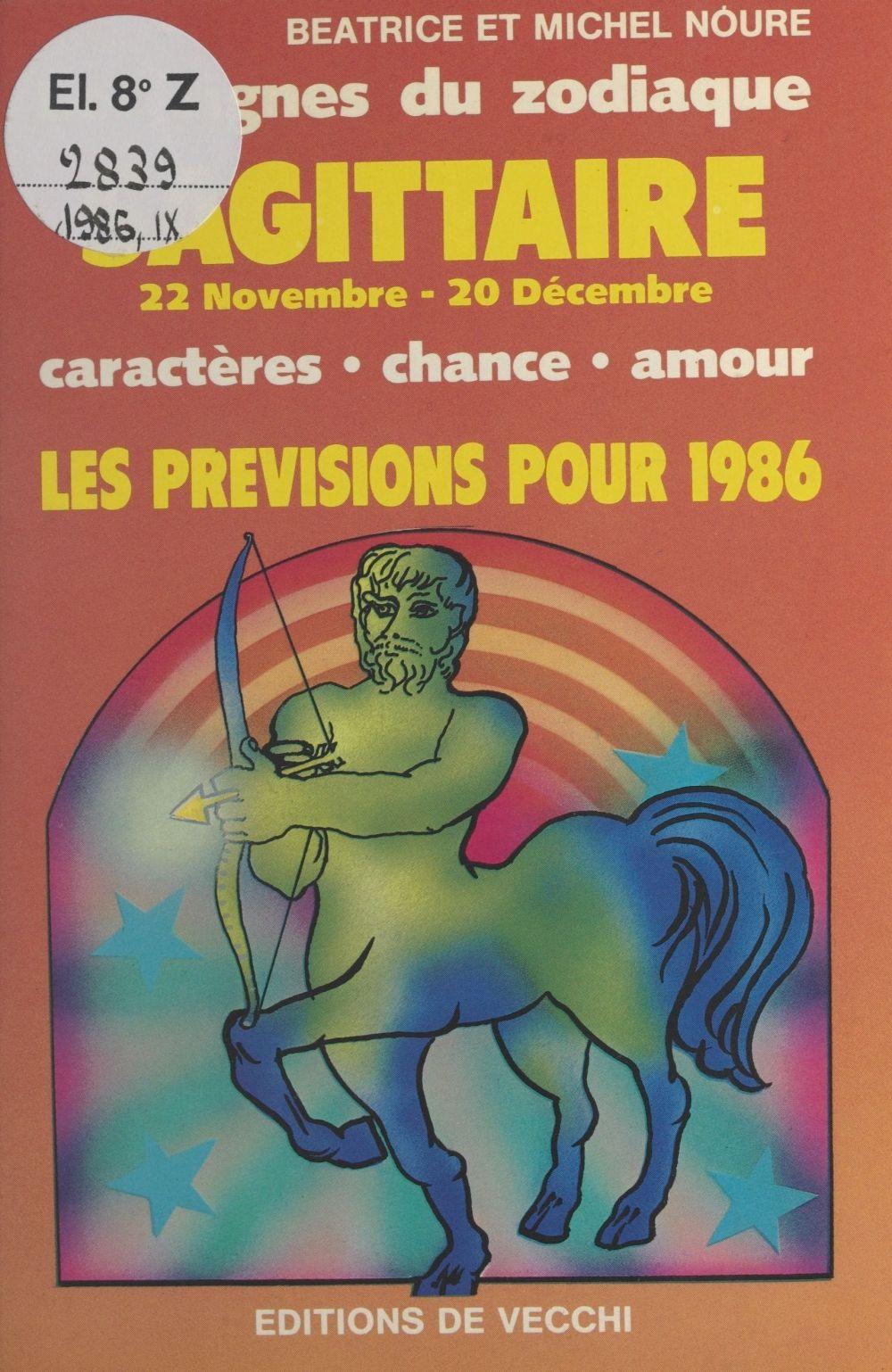 Les signes du zodiaque : les prévisions pour 1986