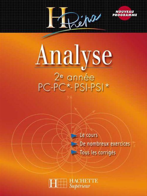 Analyse 2e année PC-PC*/PSI-PSI*