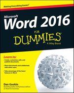 Vente Livre Numérique : Word 2016 For Dummies  - Dan Gookin