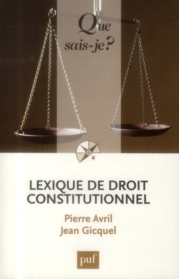 Lexique De Droit Constitutionnel (4e Edition)