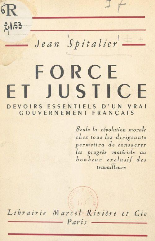 Force et justice