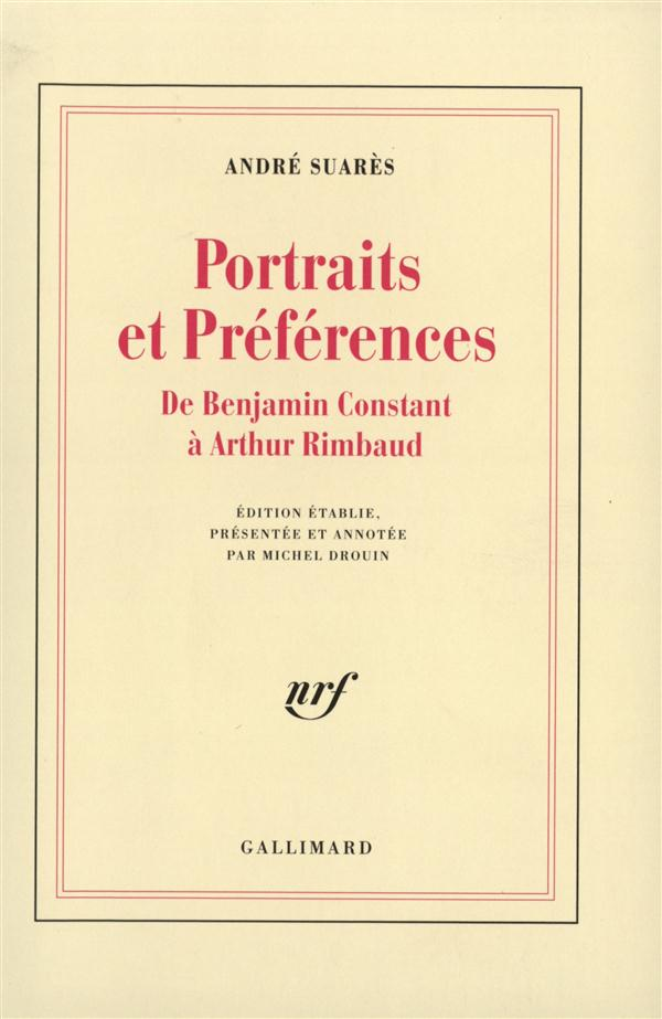 Ames et visages - ii - portraits et preferences - de benjamin constant a arthur rimbaud