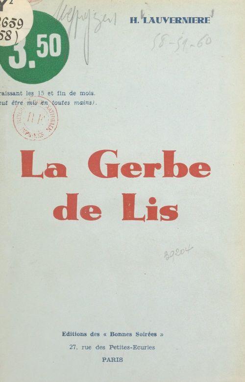 La gerbe de lis  - Hélène Lauvernière