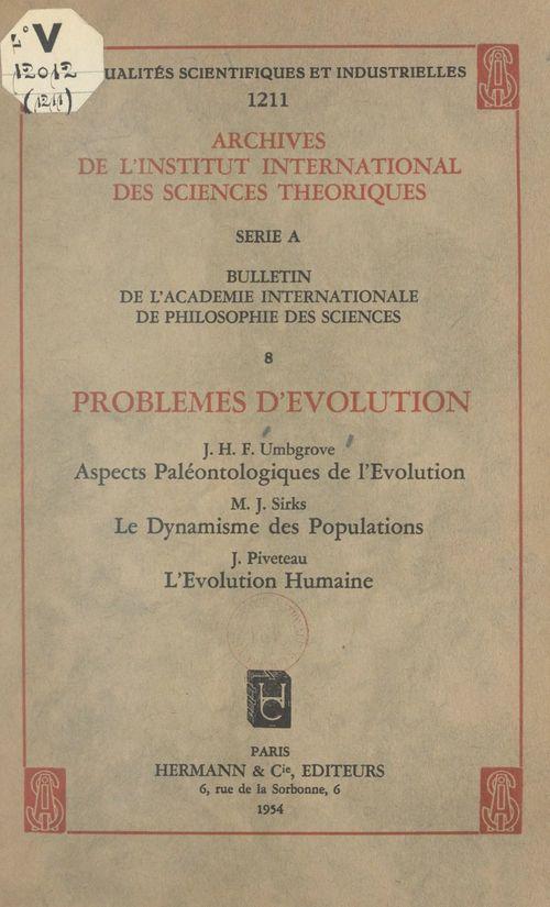 Problèmes d'évolution