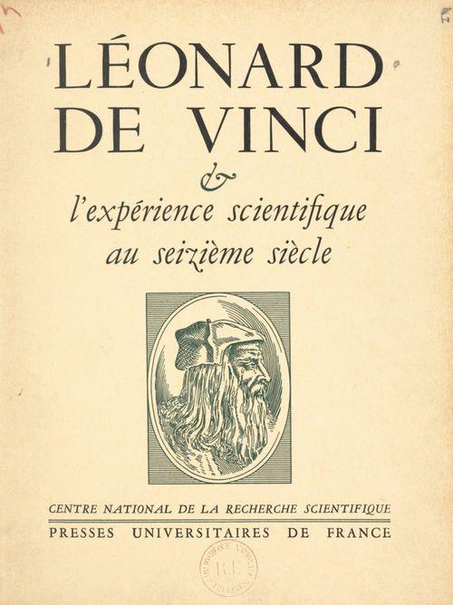Léonard de Vinci et l'expérience scientifique au XVIe siècle