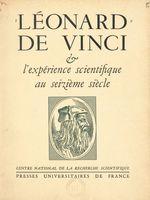 Vente Livre Numérique : Léonard de Vinci et l'expérience scientifique au XVIe siècle  - André Chastel - CNRS