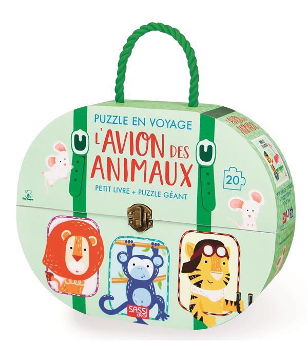Puzzle en voyage - l'avion des animaux