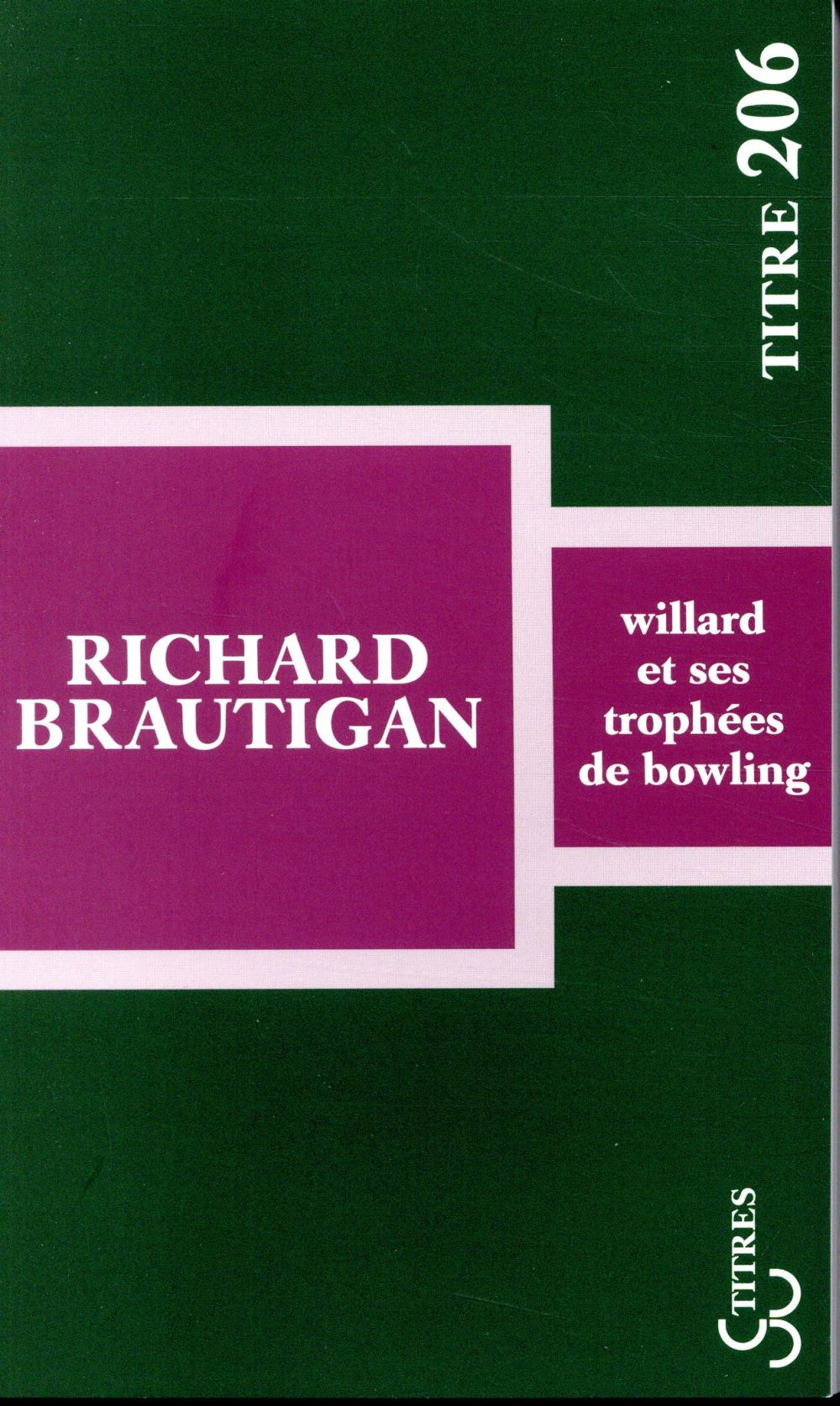 Willard et ses trophees de bowling