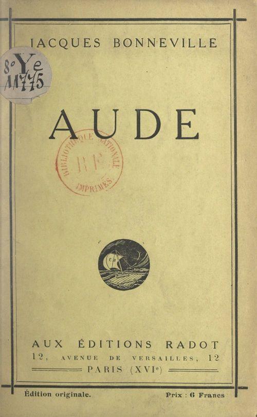 Aude  - Jacques Bonneville